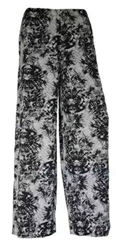 Ladies Floral Printed Palazzo Trouser Women Summer Wide Leg Pant Plus Size
