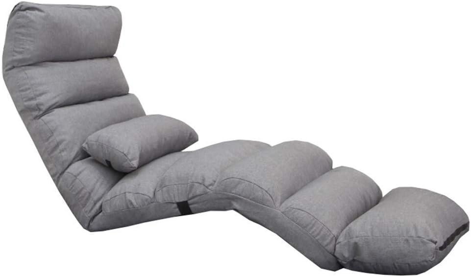 Fire Cloud Lazy Opvouwbare gewatteerde vloerstoel slaapkamer woonkamer meisjes fauteuil multi-speed aanpassing Single Loungers afneembare stoffen bekleding praktische opslag Paars