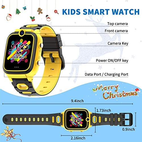 Ralehong Dual Cameras Video Smart Watch for Kids Boys Girls with Dual Cameras Video Recorder Player, MP3 Music Player,Pedometer ,33 Clock Faces ,7 Games, Waterproof and More (3 Colors)