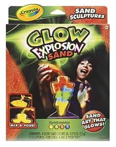 Crayola Glow Explosion Sand Art Sculptures