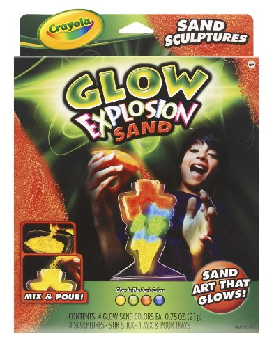 Crayola Glow Explosion Sand Sculptures