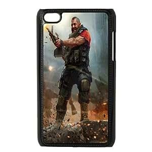 iPod Touch 4 Case Black world of mercenaries character ISU332023