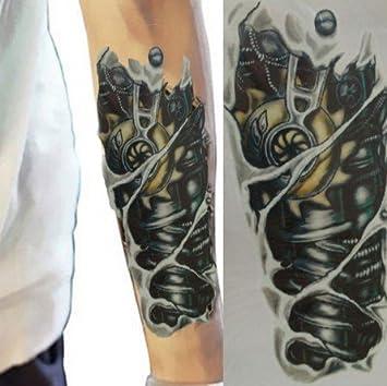 UNISEX TATUAJES negro Tatuajes temporales tatuaje del brazo negros ...