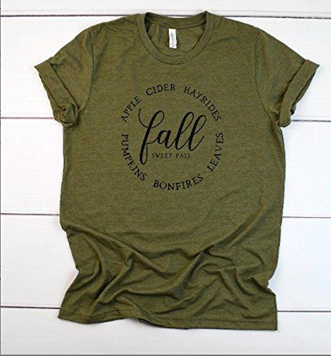 women's fall t-shirt cute women's tee thanksgiving t-shirt hello fall tee cute fall outfit