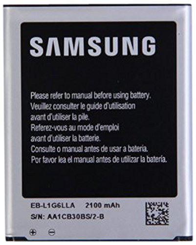 Samsung Galaxy S3 OEM Original Standard Li-ion Battery 2100mAh for Galaxy S3 - Non-Retail Packaging - Black/Silver (Certified (Black Samsung Retail Packaging)