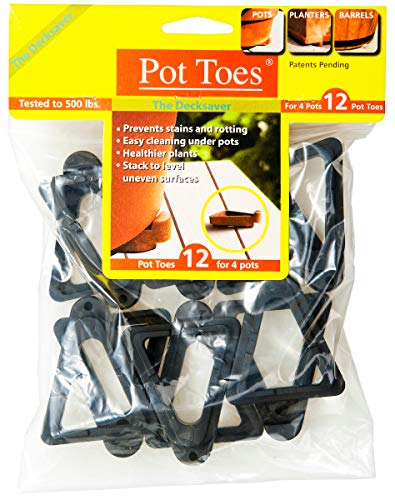 Bosmere Pot Toes, Black (Pack of 12)
