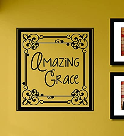 Amazon.com: Amazing Grace Vinyl Wall Decals Quotes Sayings Words Art ...