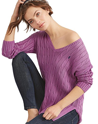 Polo Ralph Lauren Womens Merino Wool Sweater Amethyst X-Large