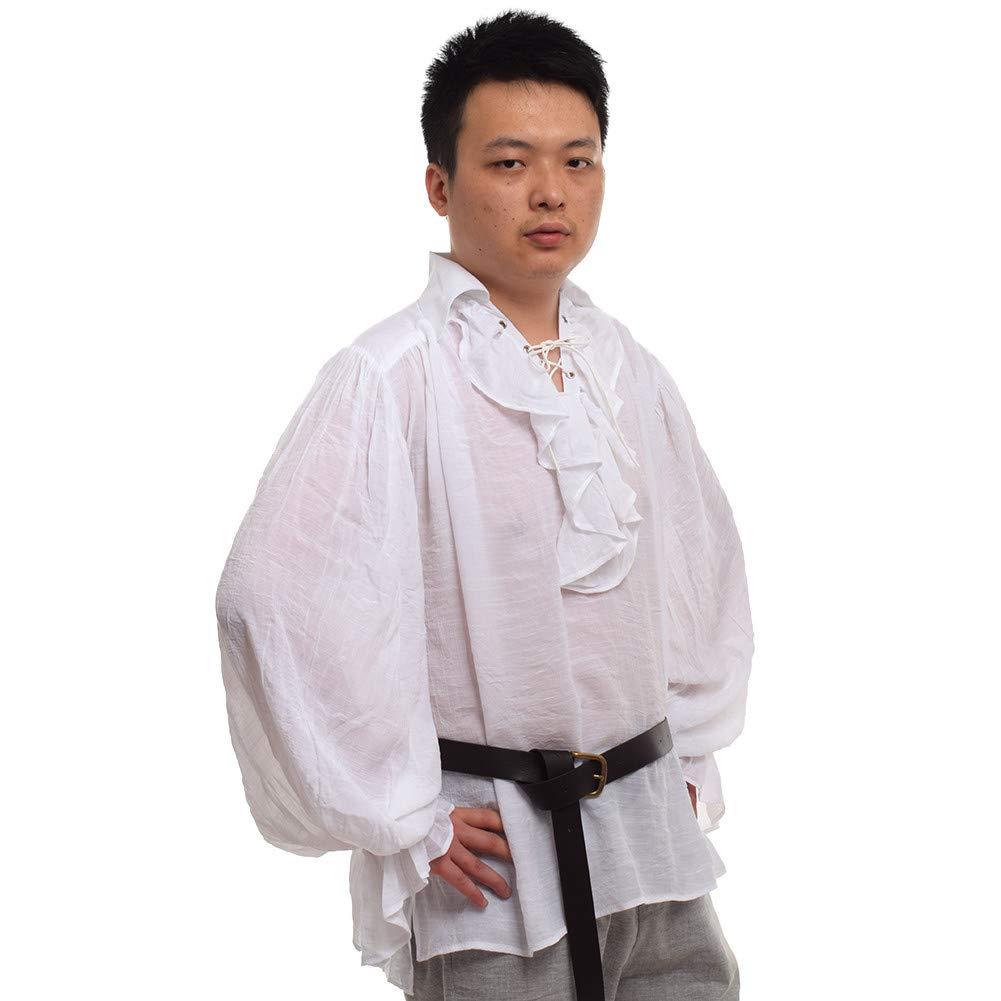 GRACEART Men's Medieval Nordic Shirts With Belt