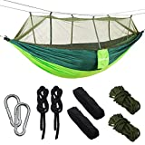 Best Nylon Hammocks - Double Parachute Camping Hammock with Mosquito Net,High Capacity Review