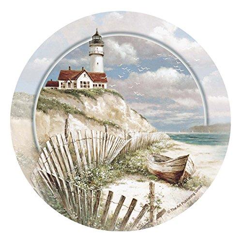 Thirstystone Stoneware Coaster Set, Beach Lighthouse ()