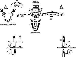 Rvinyl Rdash Dash Kit Decal Trim for Chevrolet Cruze 2011-2015 - Carbon Fiber 3D (Blue)