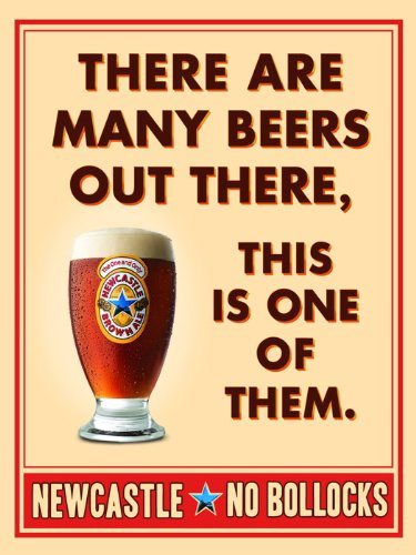SJ1192 Newcastle Brown Ale Cool Beer Advertising 24x18 Print POSTER (Ale Brown Newcastle)