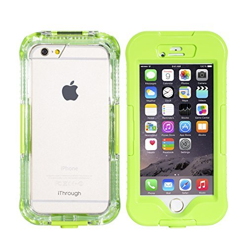 iPhone 6S Plus Waterproof Case, iThrough iPhone 6S Plus Waterproof Case, Dust Proof, Snow Proof, Shock Proof Case, Heavy Duty Protective Carrying Cover for iPhone 6S Plus, iPhone 6 Plus (Green)