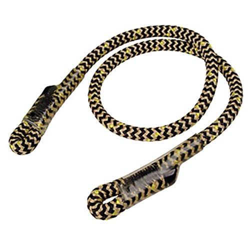 """ROPE Logic Bee Line 8mm X 30"""" G Spliced Eye & Eye Prusik Cord Rope, Black/Brown"""