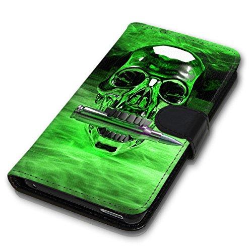 Wallet Book Style Flip Handy Tasche Case Schutz Hülle Schale Motiv Etui für Apple iPhone 4 / 4S - Design Flip MVD291