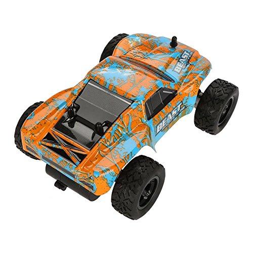 RC  2.4GHz 1:24 かー ビッグフット オフロード車 車モデル ラジコン車 レーシング おもちゃ 2カラー(オレンジ+ブルー)