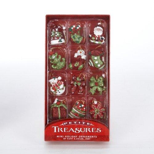 Petite Treasures Resin Holiday Miniature Ornament Set Of 12 Home Garden Decor Seasonal