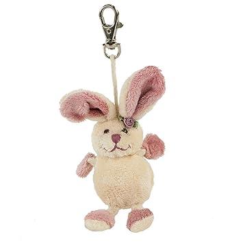 Conejo de peluche franceska, 17 cm, color rosa, llavero ...