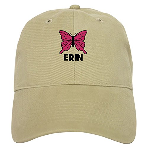 CafePress - Butterfly - Erin - Baseball Cap with Adjustable Closure, Unique Printed Baseball Hat