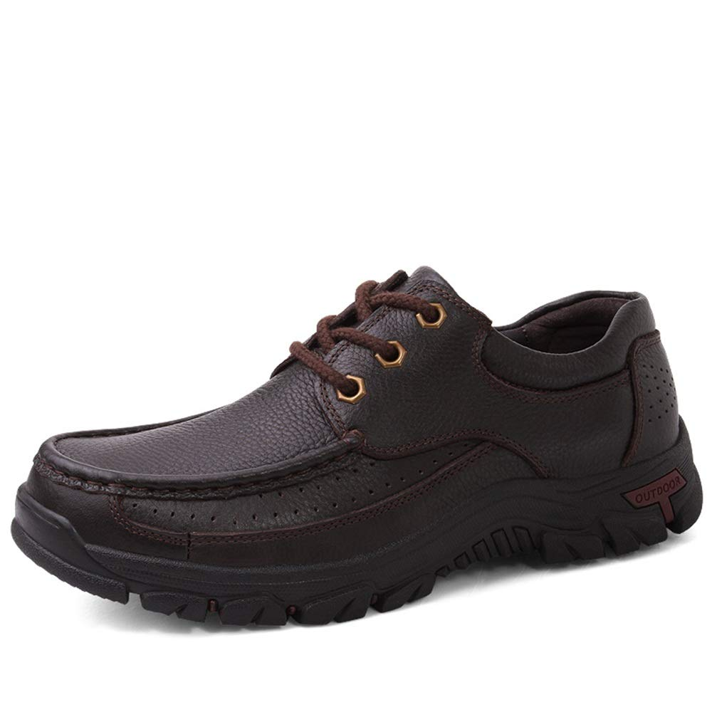 DADIJIER Mode pour Hommes Oxford Casual Faux Fleece À l'intérieur des Chaussures de Loisirs en Plein air à Lacets Bas Confortables (conventionnel en Option) Résistant à l'abrasion