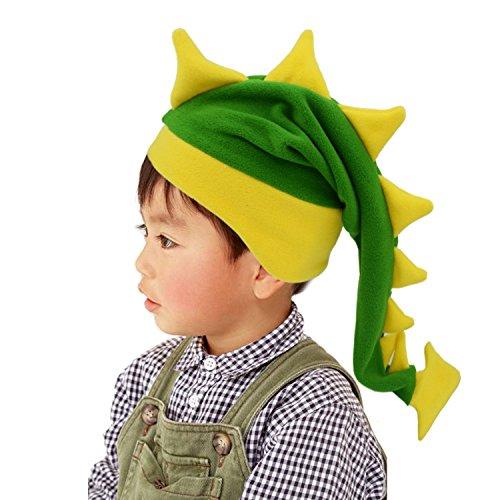 Party Hat Emoji (Funkeet Crazy Long Plush Spike Dragon Stegosaurus Tail Hat Fun Party Costume Cap (for Kids,)