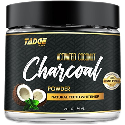 Activated Charcoal Teeth Whitening Powder - Organic Coconut Active Charcoal Tooth Whitener Will Wow You. Use Like Toothpaste & Skip the Strips, Kits and Gel!