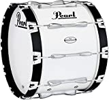 Pearl Championship Maple Marching Bass Drum 20x14 Inch Pure White