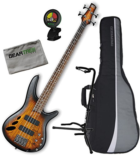 Ibanez SR30TH4IIDEF SR Standard Bass Guitar - Dragon Eye Burst Flat 30th Anniversary Limited Edition w/ Gig Bag, Geartree Cloth, Stand, and Tuner (30th Anniversary Electric Guitar)