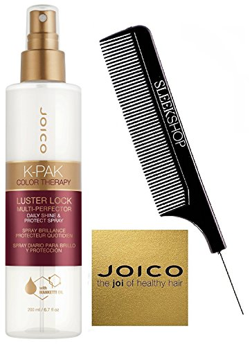 Joico K-PAK Color Therapy LUSTER LOCK MULTI-PERFECTOR Daily Shine & Protect Spray with Manketti Oil (with Sleek Steel Pin Tail Comb) (200 ml/6.7 - Lock Spray Color Styling