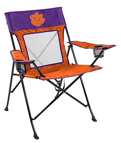 Rawlings NCAA Game Changer Large Folding Tailgating and Camping Chair, with Carrying Case, Clemson Tigers (Tailgating Ncaa Gear)