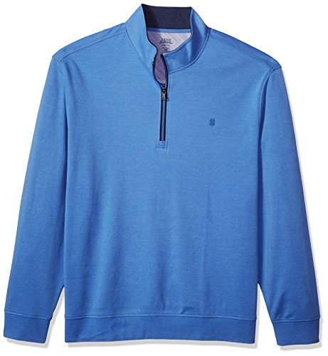 (IZOD Men's Big Saltwater 1/4 Zip Fleece, Blue Revival, 3X-Large Tall)