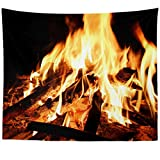 Westlake Art - Outdoor Fireplace - Wall Hanging Tapestry - Picture Photography Artwork Home Decor Living Room - 68x80 Inch (1121-4435A)