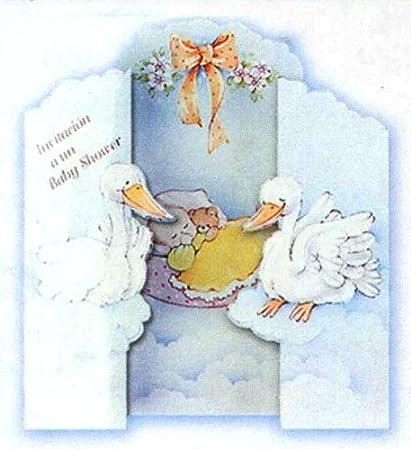 Amazon 100 tri fold baby shower invitations in english 525 100 tri fold baby shower invitations in english 525quot filmwisefo