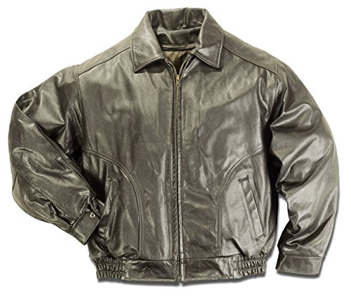 REED Men's All American Bomber Leather Jacket Union Medium Brown (Jackets Leather Designer Mens)