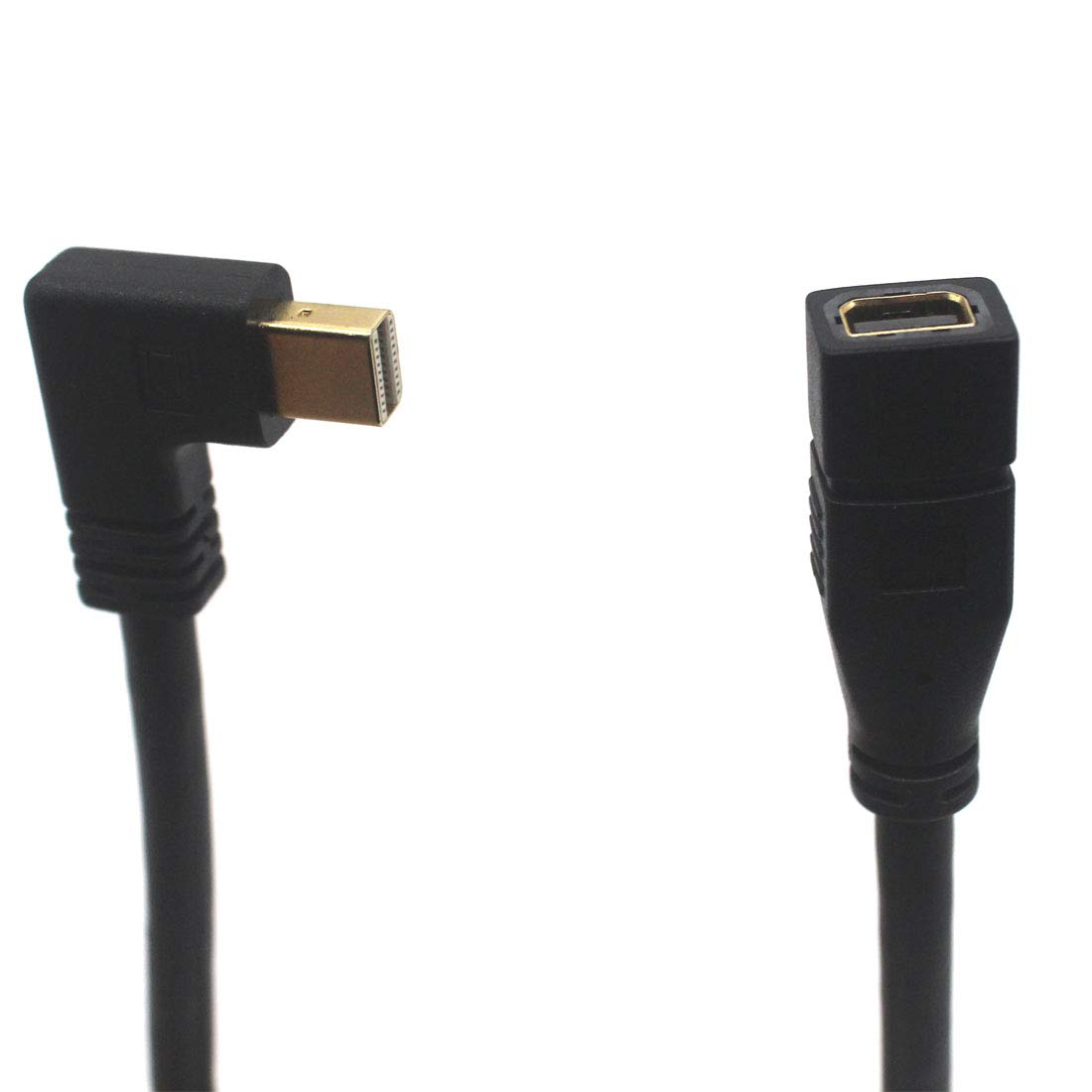 F Mini DP to M Mini DP up Laptop Mini DP Extension Cable Aggice 90 Degree Gold Plated M Mini Displayport to F Mini Displayport Adapter 4K Resolution Converter,Thunderbolt to DP Compatible for PC