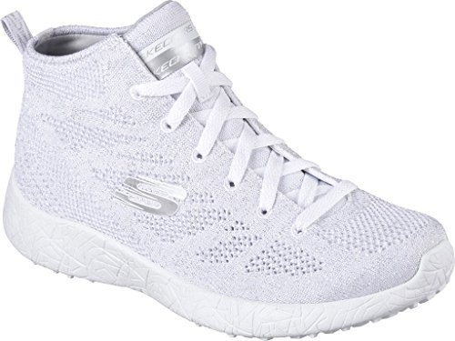 Skechers Women S Burst Moon Dust High Top White Silver Us