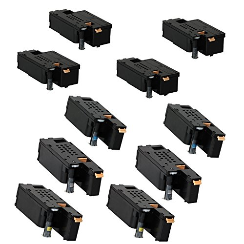 Discount Compatible Toner Cartridges for Xerox Phaser 6000, 6010, Workcentre 6015 2Sets+2BK - 10pk (BCMY) free shipping