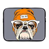 Business Briefcase Sleeve Cool Hat Pug Dog Laptop Sleeve Case Cover