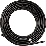 RainDrip 052020P Drip Watering Hose , Black Polyurethane 1/2 inch x 200 Ft