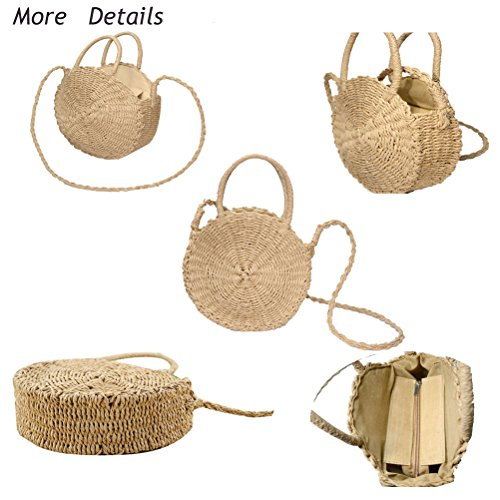 Shoulder Straw Tote Tassel Round Tassel Large Shopping Weave Zip Crossbody Bag Bag Bag Cute Women's Crossbody Bag Fashion Summer Shape Abuyall Ff Mini Beach Large Mini 5qOzw