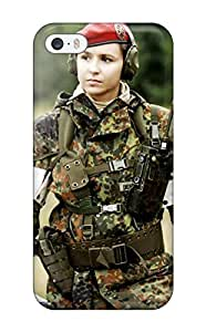 Frances T Ferguson Iphone 5/5s Hybrid Tpu Case Cover Silicon Bumper Soldier