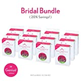 Heel Protectors Classic Bridal Pack by Solemates - Heel Stoppers for Any Wedding or Outdoor Event, Helps Protect from Grass, Gravel, Bricks, and Cracks (12 Clear Classic Pairs)