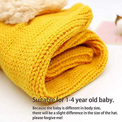 Winter Baby Hat Child Winter Hat Scarf Set Winter Baby Warm Knit Hat Scarf Puppy One-Piece Knit Cap Baby Girl Boy Child Winter Hat Scarf Set Baby Shawl Bib Warm Neck Cap with Snow Neck