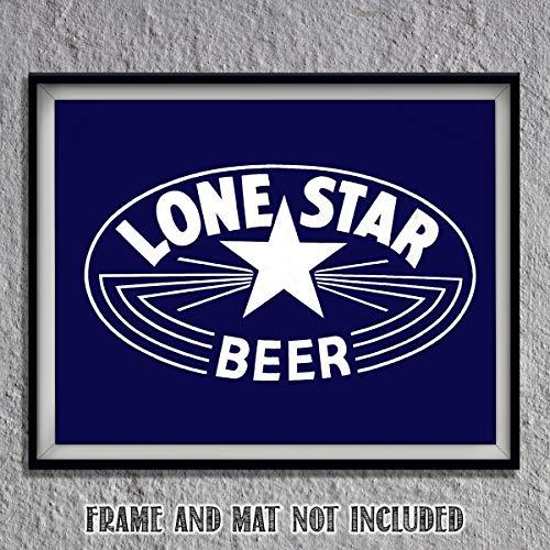 Lone Star Beer- Logo Poster Print- 10 x 8
