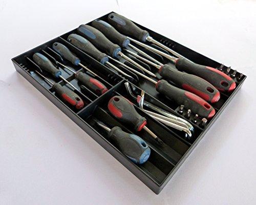 Large Tool Organizer (Tool Sorter Screwdriver Organizer - Black)