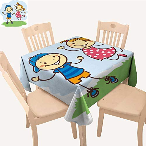 UHOO2018 Eco-Friendly and Safe Kids plaay Stick Figures Square/Rectangle Multi Colors & Sizes,50x 53inch (Maui Bistro)