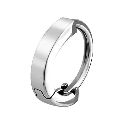 Amazon Com Bodyjewelleryshop Huggy Steel Belly Button Ring Plain