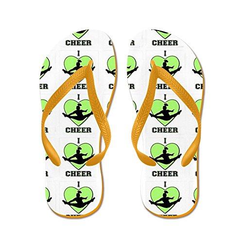 CafePress Green Cheerleader - Flip Flops, Funny Thong Sandals, Beach Sandals Orange