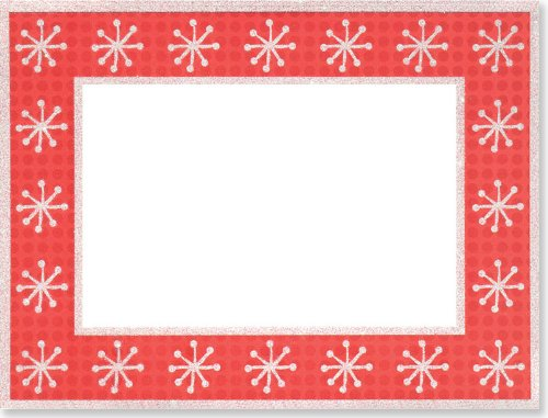 Dots & Snowflakes Christmas Photo Frame (Greeting Cards, Christmas ...